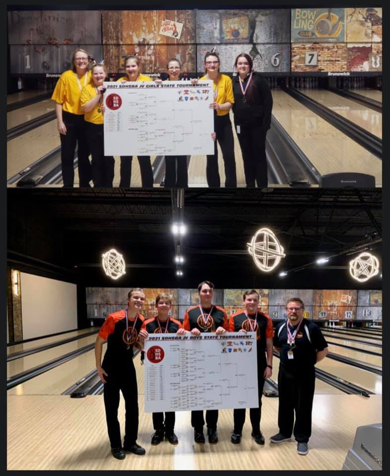 Harrisburg/Tea Girls and Washington Orange Boys won the 2020-21 JV Tournament at The Lanes in Brookings on Feb. 15 and 16.